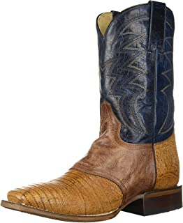 حذاء طويل رجالي من Roper مصنوع من قماش Deadwood Western برقبة على شكل حرف T بني مقاس 10 D US
