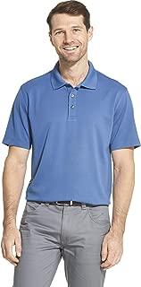 Men's Short Sleeve Air Performance Ottoman Stripe Polo Shirt