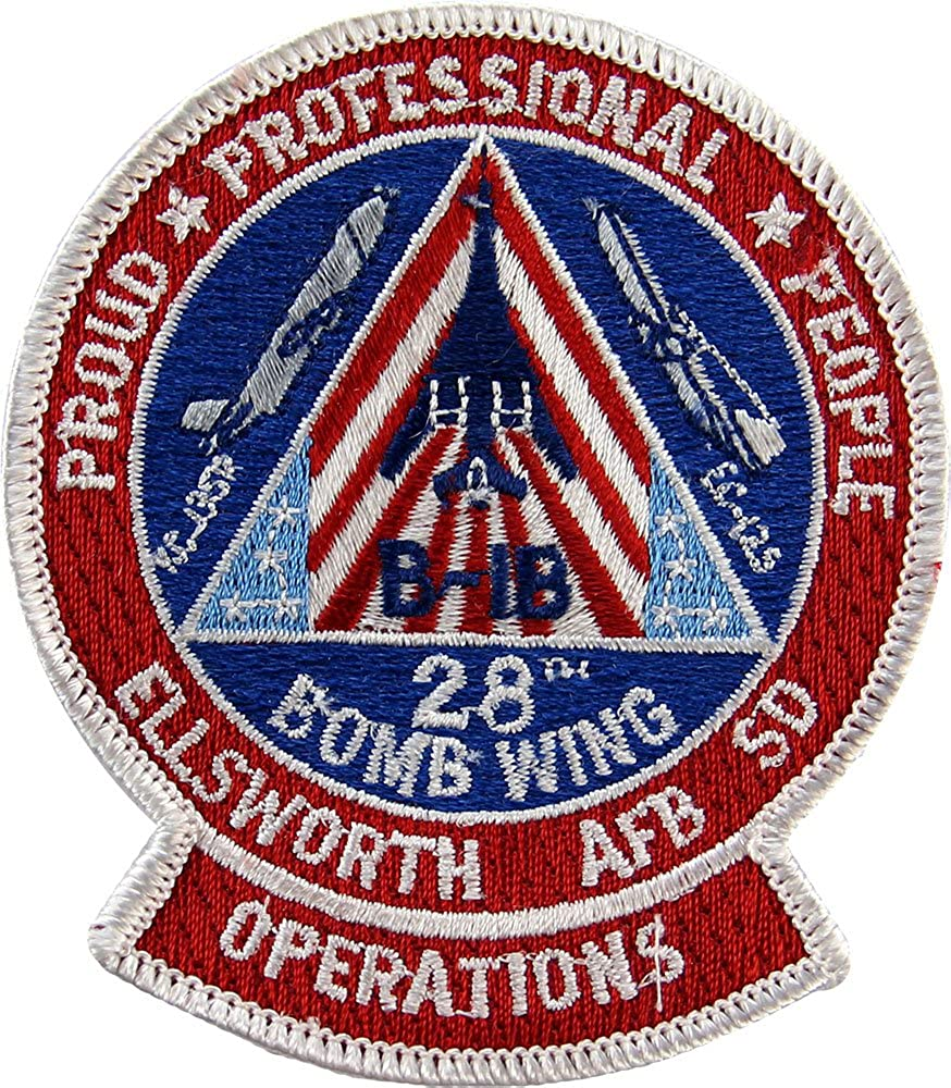 28th Bomb Wing B-1B Ellsworth Full AFB Color Max 57% OFF Patch Gifts