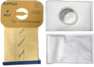 EnviroCare Replacement Vacuum Bags and After Filter for Electrolux Canister Tank Style C 8 Bags and 2 After Filters
