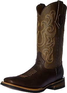 Men's Maverick Chocolate Square Toe Western Boot