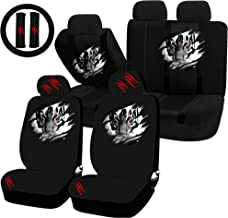 UAA 22pc Tiger Within Animal Inside Universal Seat Cover Steering Combo Set