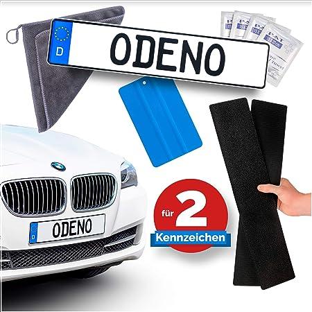 König Design 2 X Kennzeichenhalter Klett Set Nummernschildhalter Rahmenlos Kennzeichenhalterung Unsichtbar Kennzeichenträger Auto
