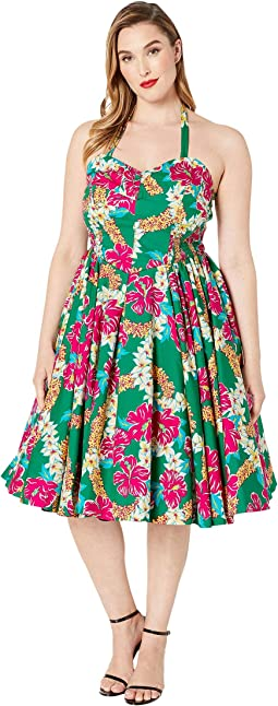 6757509ce9 Unique Vintage x Alfred Shaheen Tiki Print Swing Dress. $134.40MSRP:  $168.00. Green