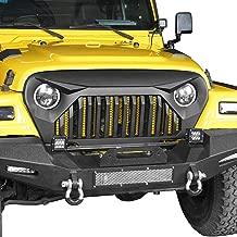 u-Box Jeep TJ Front Gladiator Vader Grille Grill Overlay Cover in Matte Black for 1997-2006 Jeep Wrangler TJ LJ