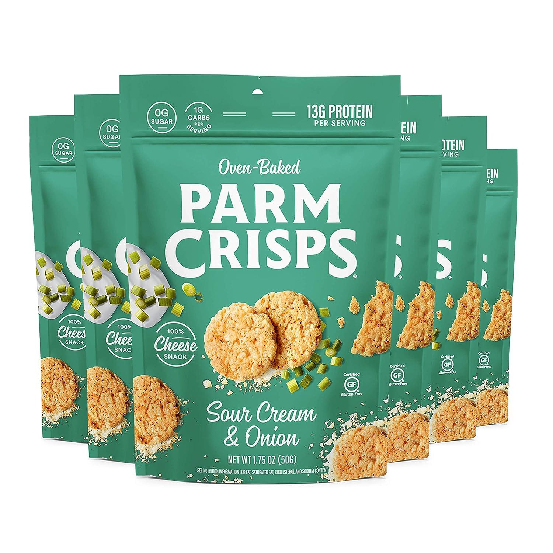 ParmCrisps Sour Over item handling ☆ Max 69% OFF Cream Onion Parmesan 1.75oz Pa Cheese Crisps