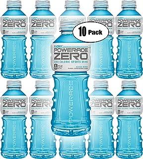 Powerade Zero Blue Mixed Berry, Zero Calorie Sports Drink, 20oz (Pack of 10, Total of 200 Oz)