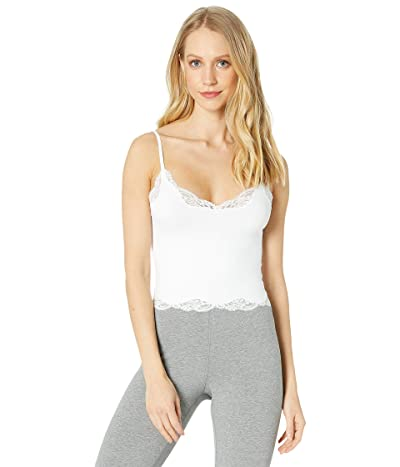 Only Hearts Delicious w/ Lace Cropped Cami (White) Women