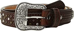 Multi Stud Basket Weave Belt