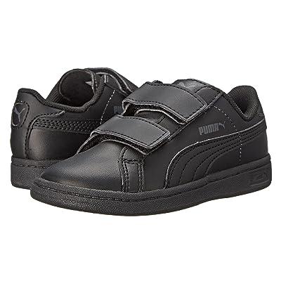 Puma Kids Puma Smash L V (Toddler/Little Kid) (Black/Black/Dark Shadow) Kids Shoes