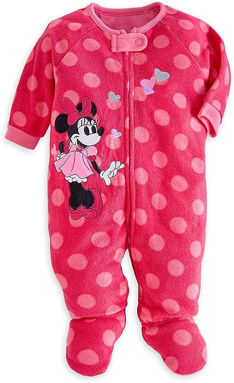 Disney Store Minnie Mouse Pink Siz Sleeper Max 75% OFF 4 years warranty Onesie Footed Blanket