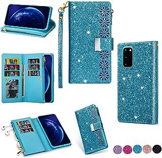 حافظة هاتف بتصميم محفظة لامعة وبسحاب من مايلين Samsung Galaxy Note 10 Lite