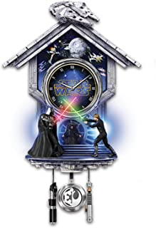Bradford Exchange The STAR WARS: Sith vs. Jedi Wall Clock with Light Up Lightsaber Duel and Theme Song