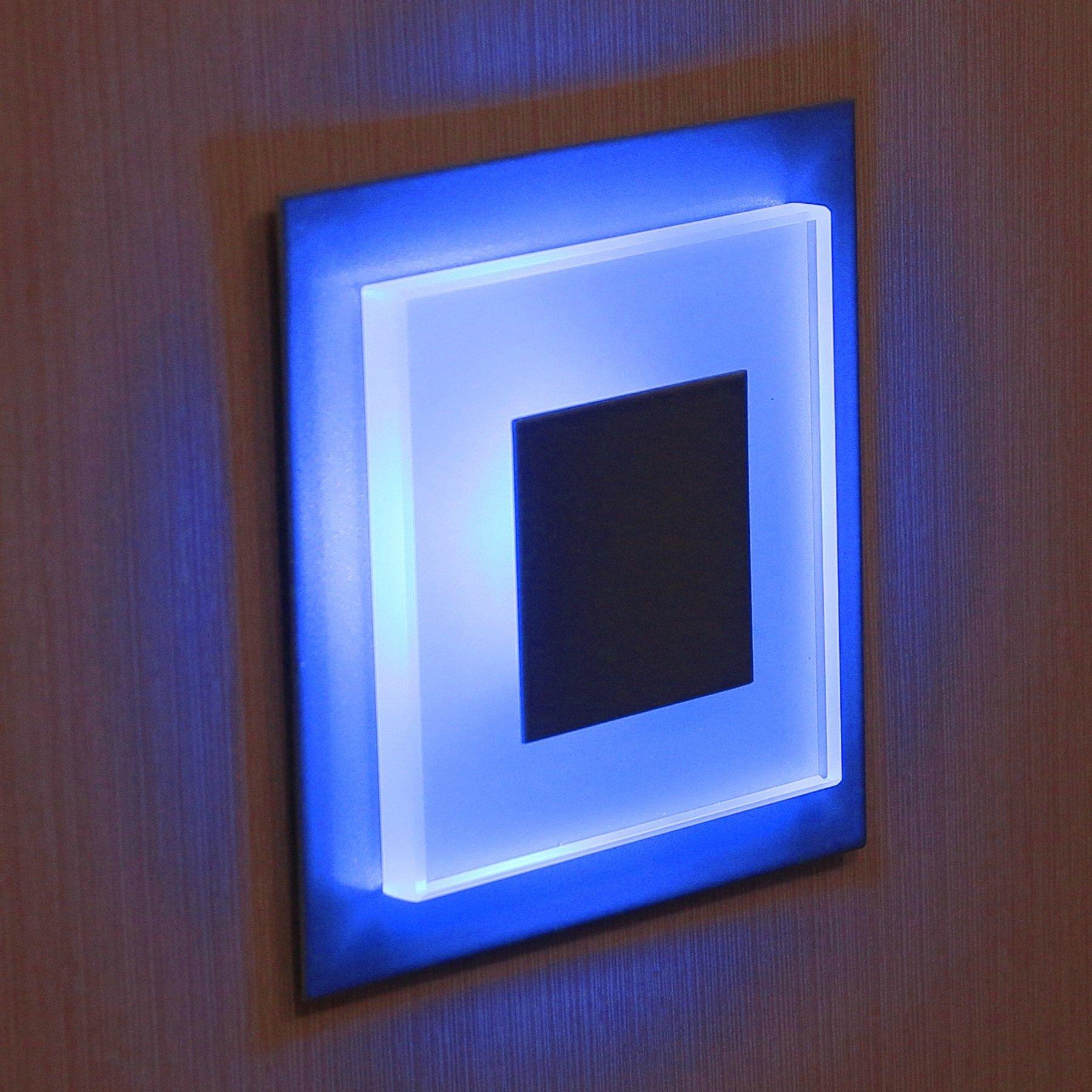 12V - 24V SUN-LED DUO apliques focos LED para escalera, escalera, pasillo, luz azul marco de