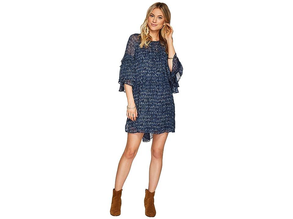 Lucky Brand Helen Dress (Blue Multi) Women