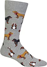 Hot Sox Men's Animal Series Novelty Casual Crew Socks