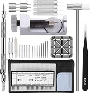 Home-Mart Watch Strap Link Removal Repair Tool,Watch Band Bracelet Pin Remover Adjustment Kit,Spring Bar Tool with Extra pins
