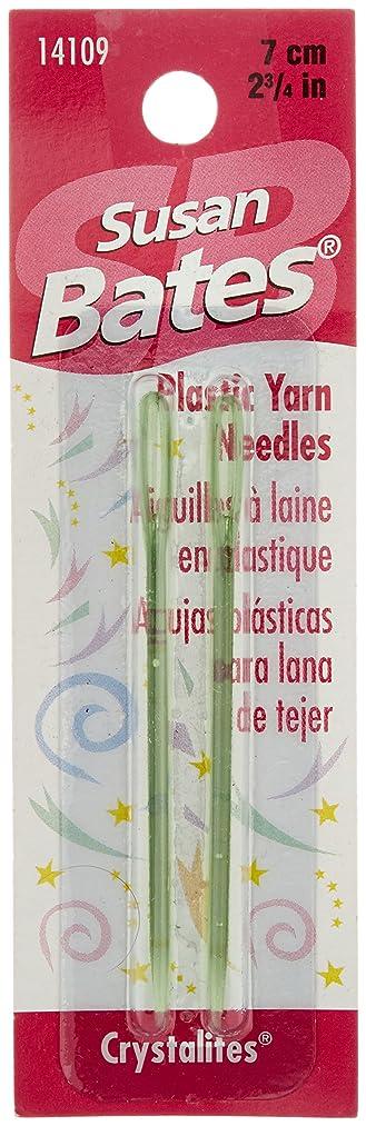 Susan Bates Crystallites Plastic Yarn Needle, 2-3/4-Inch, 2 Per Package - colors may vary