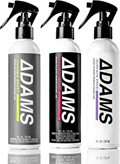 Adam's Ceramic Spray Coating 8oz – A True Nano Ceramic Protection for Car, Boat & Motorcycle Paint – Top Coat Polish Sealant After Clay Bar, Polishing & Detail Car Wash (Three Bottle Kit)