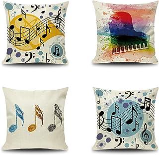 Notes Pillow Pillowcase Travel Pillowcase Toddler Pillowcase 17 x 13 Pillow Cover Music Notes Pillowcase Handmade Notes Pillow Case
