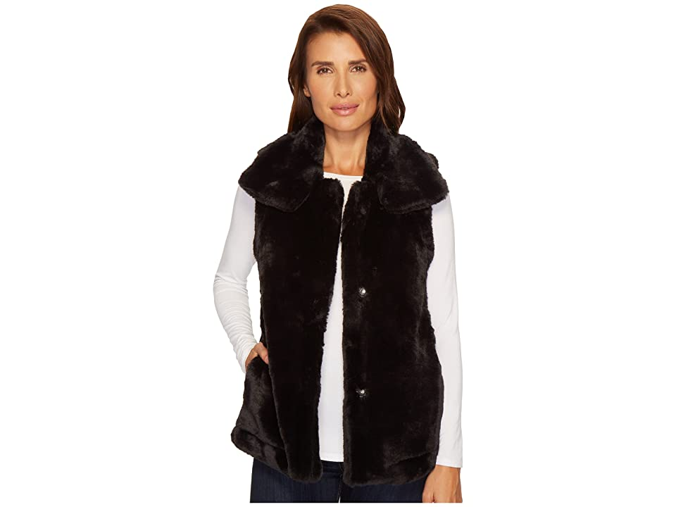 Dylan by True Grit Minky Plush Vest (Black) Women