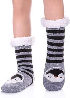 Boys Girls Slipper Socks Fuzzy Soft Warm Fleece lined Kids Toddler Winter Socks for Christmas