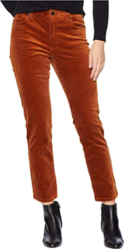 High-Rise Crop Skinny Corduroy in Clockwork Copper