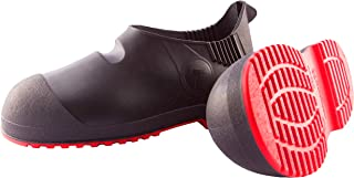 """Tingley Workbrutes G2 - PVC Overshoe - 5.5"""" Ht. - Black Upper - Red Sole - Cleated Outsole"""