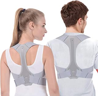 Posture Corrector for Men and Women FDA Approved Adjustable Upper Back Brace for Support and Spinal Alignment, Providing Shoulder-Neck-Back Pain Relief (XL)
