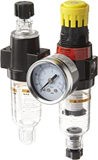 Parker 14G11B18F0GD Two-Unit Combo Compressed Air Filter/Regulator/Lubricator, 1/4