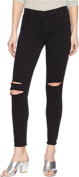 J Brand 8227 Ankle Mid-Rise Skinny in Black Mercy
