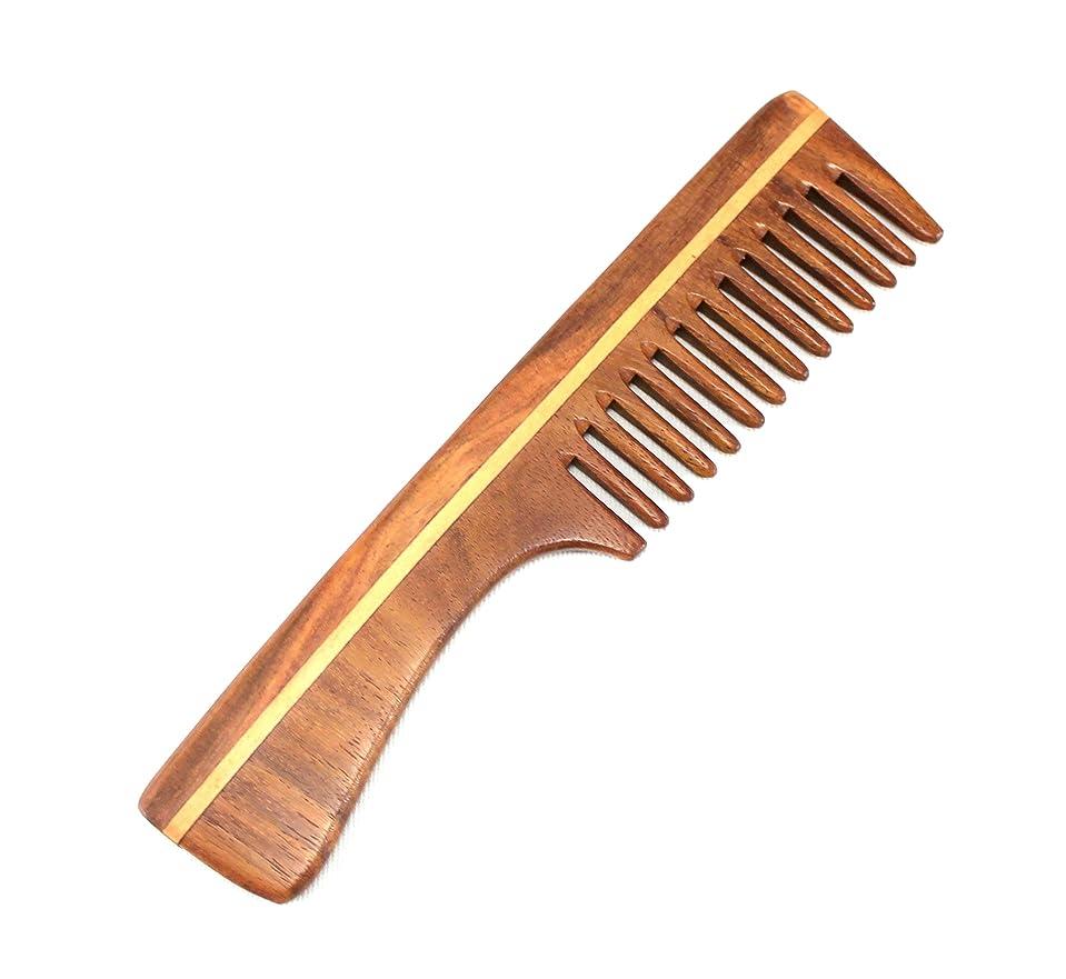 実行する甘くする花婿eSplanade男性用&女性用木製櫛 - インディアンローズウッドの手作り静電気防止頭髪、ひげ、フリーキャリングポーチ付きの口コキ