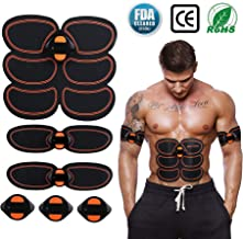 Abs Stimulator, Muscle Toner-Abs Stimulating Belt-Abdominal Toner-Training Device for Muscles- Wireless Portable to-Go Gym Device- Muscle Sculpting at Home- Fitness Equipment for at-Home Workouts