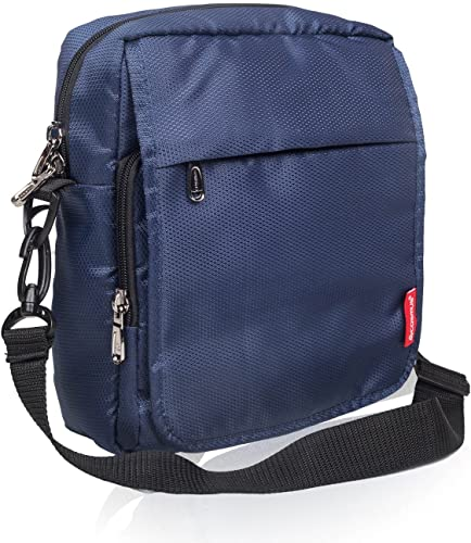 Polyester 6 Ltr Navy Blue Messenger Bag
