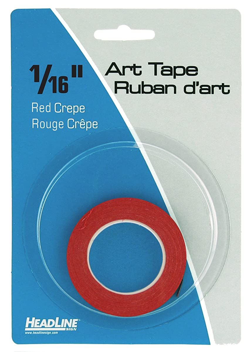 Headline Sign 73163 Graphic Art Tape, Red, 1/16-Inch Wide, 603 Inches Long