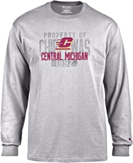 Champion NCAA Mens NCAA Men's Long Sleeve Lightweight T-Shirt Officially Licensed 100% Cotton Tagless Tee
