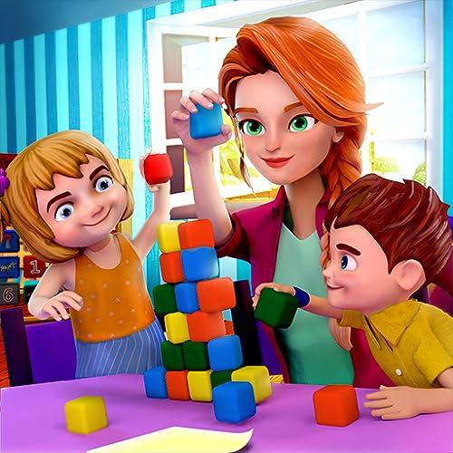 Virtual Sweet Baby Kindertagesstätte Happy Family Babysitter Simulator 3D: Glückliche Familie Baby Kindertagesstätte Abenteuer Spiele Gratis für Kinder 2018