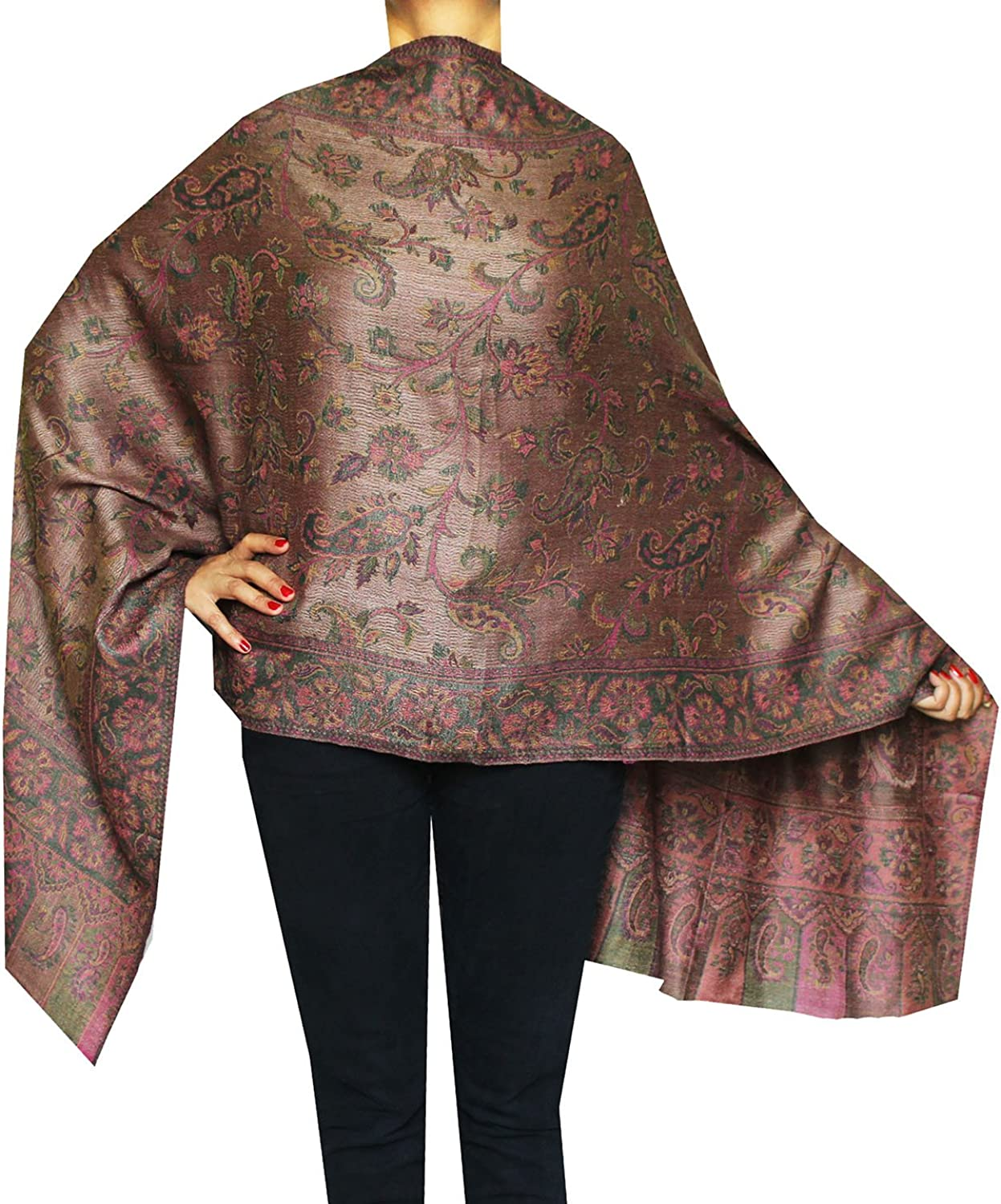 Maple Clothing Scarves Paisley Wool India Clothing Womens Gift (80 x 28 inches)