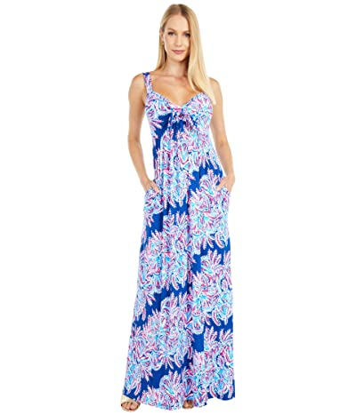 Lilly Pulitzer Maui Maxi Dress (Oyster Bay Blue Miss Shell) Women