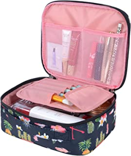 MKPCW Travel Makeup bags Cosmetic Case Organizer Portable Storage Bag Cosmetics Make up Brushes Toiletry bag accessories Black