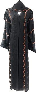 Women Abaya with Shawl Nidha Material Black Color Arabic Design