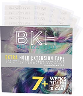 Big Kizzy Hair Extensions Tape - Extra Hold - Fits Most Tape in Hair Extensions, 4cm x .8cm Tape for Extensions, Professional Double Sided Extension Tape