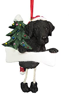 Black Labrador Ornament with Unique