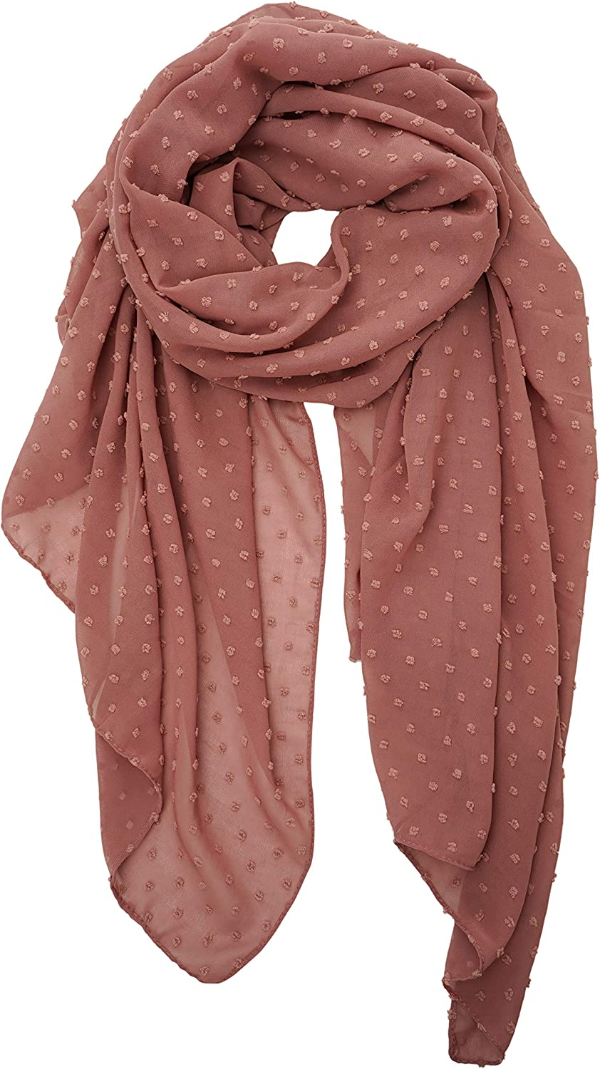 YOUR SMILE Ladies/Women's Lightweight Solid Color Pearl Chiffon Long Shawl Scarf For Spring Summer Fall