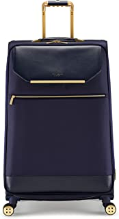 Ted Baker Women's Albany Softside Luggage, Suitcase Collection (Navy, Checked-Large 29-Inch)