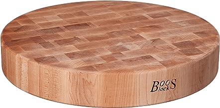 John Boos 18-inch diameter door 3 inch ronde eindkorrel harde esdoorn hakblok
