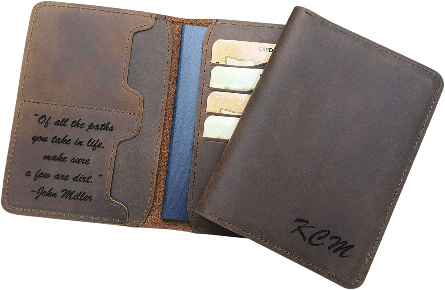 Personalized Genuine Leather Washington Mall Passport Custom with Max 69% OFF Cover Message