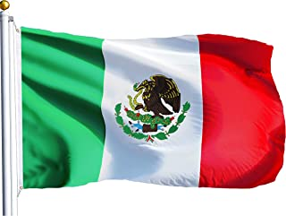 G128 – Mexico (Mexican) Flag | 3x5 feet | Printed – Vibrant Colors, Brass Grommets, Quality Polyester