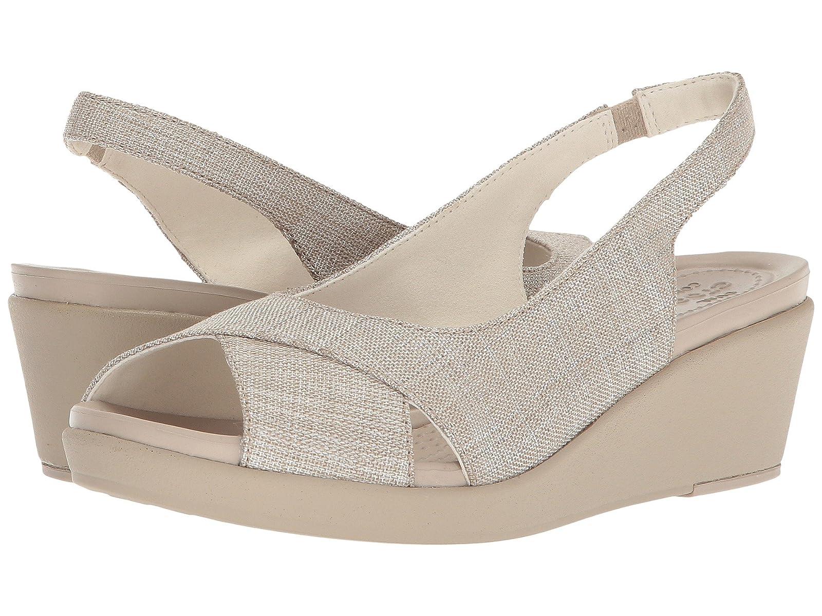 Crocs Leigh Ann Shimmer Slingback WedgeAtmospheric grades have affordable shoes