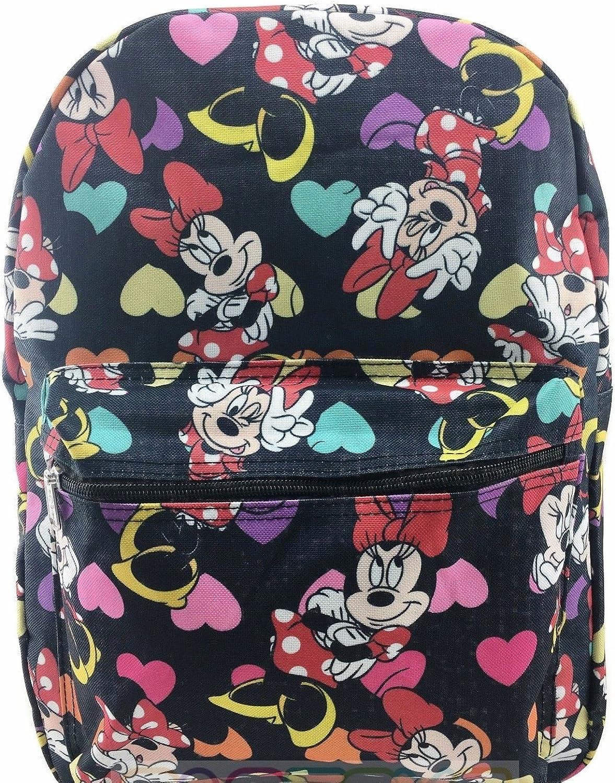 Disney Minnie Mouse Schulrucksack, 40,6 cm, Schwarz